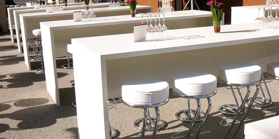 Tavoli noleggio, tavolini, sgabelli