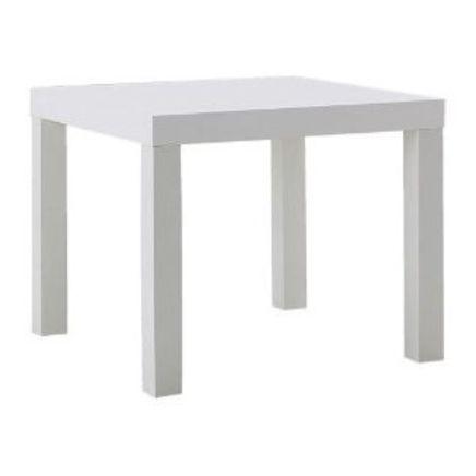 Tavolino basso, bianco
