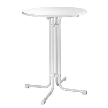 Tavolo tondo, bianco