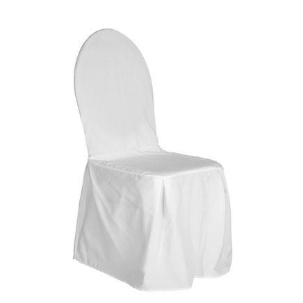 Sedia Banqueting con coprisedia bianco