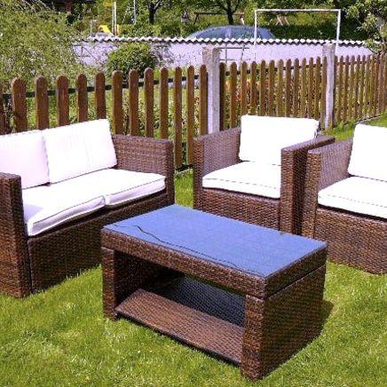 Couch 2-Sitzer, Polster, Kunststoffgeflecht