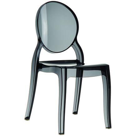 Stuhl Elizabeth, schwarz-transparent