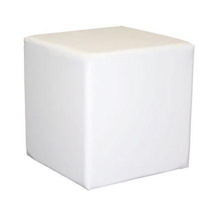 Sitzwürfel Textilleder weiß