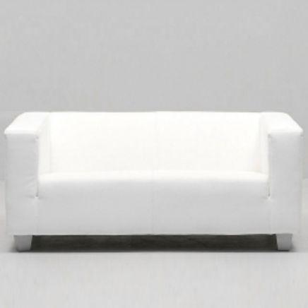 Lounge weiß, 2-Sitzer, Textilleder