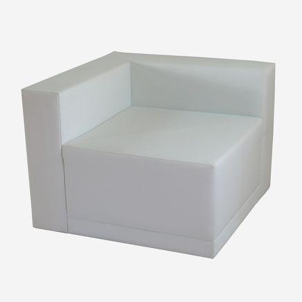 Elemento Lounge X1, ecopelle, bianco,