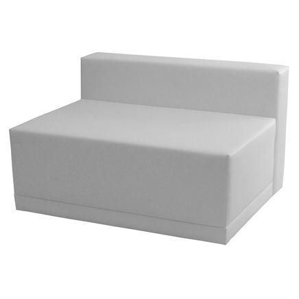 Elemento Lounge X2, ecopelle, bianco,