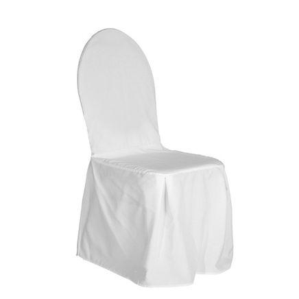 Coprisedia per sedia Banqueting, bianco